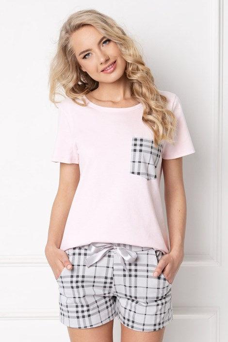 Aruelle Dámské pyžamo Londess krátké růžovošedá XL