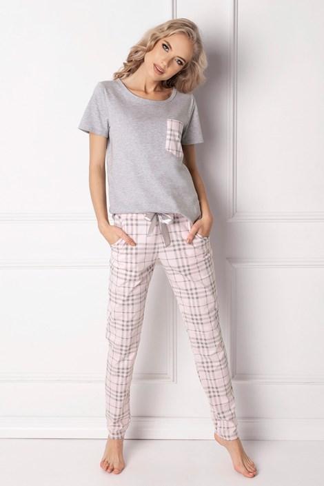 Aruelle Dámské pyžamo Londie dlouhé šedá XL