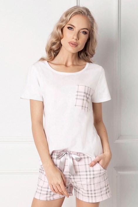 Aruelle Dámské pyžamo Londie krátké bílá XL