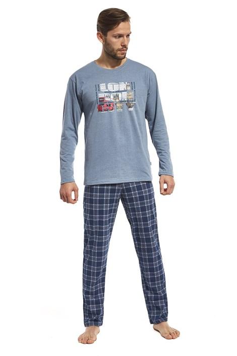 Cornette Pánské bavlněné pyžamo London Street modrá XXL