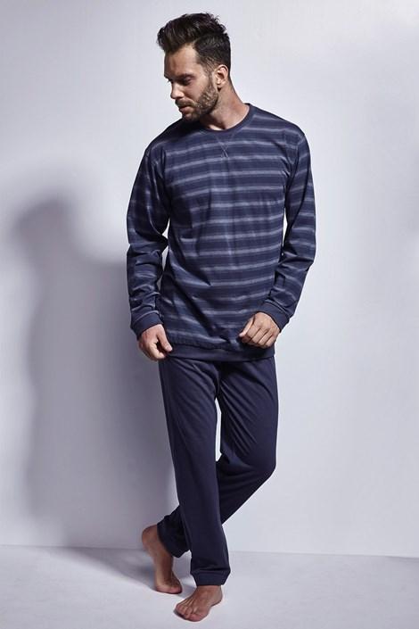 Cornette Pánské pyžamo CORNETTE Stripes modrá XXL
