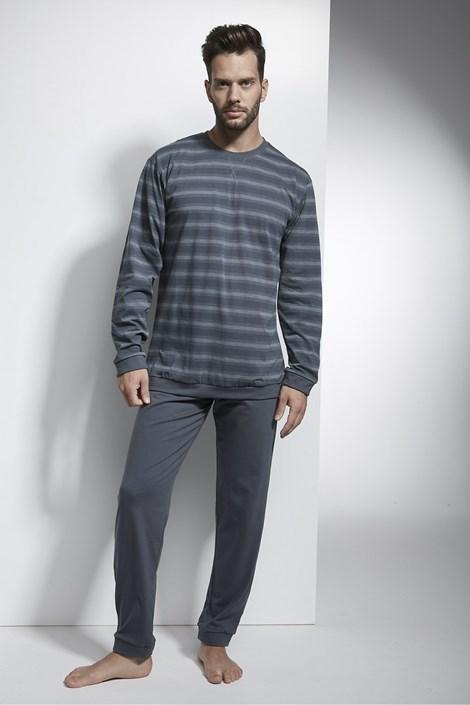 Cornette Pánské pyžamo CORNETTE Loose tmavěšedá XL