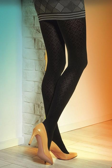 Gatta Vzorované punčochové kalhoty Loretta 116 50 DEN černá S