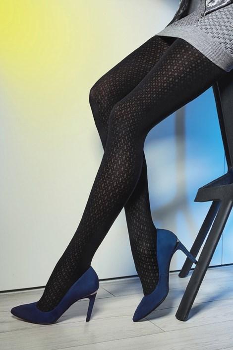 Gatta Vzorované punčochové kalhoty Loretta 118 50 DEN černá S