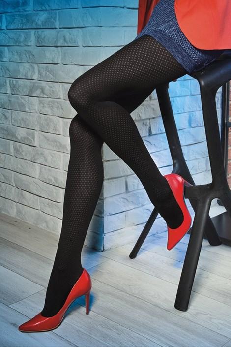 Gatta Vzorované punčochové kalhoty Loretta 119 50 DEN černá M