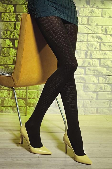 Gatta Vzorované punčochové kalhoty Loretta 120 50 DEN černá S