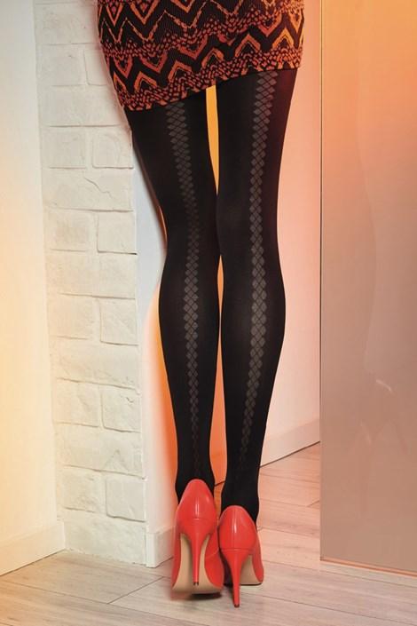 Gatta Vzorované punčochové kalhoty Loretta 121 50 DEN černá S