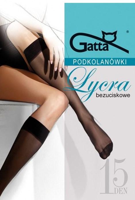 Gatta 2 PACK punčochových podkolenek Lycra 15 DEN visone uni