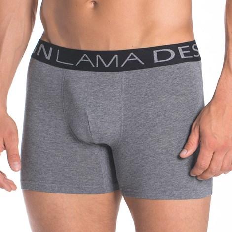 Lama Pánské boxerky LAMA Design Grey šedá XXL