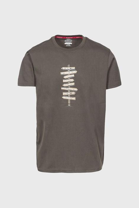 Trespass Pánské tričko Mapping khaki XL