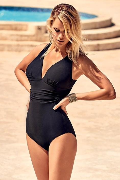 Miradonna Formující italské jednodílné plavky Veronica černá 40