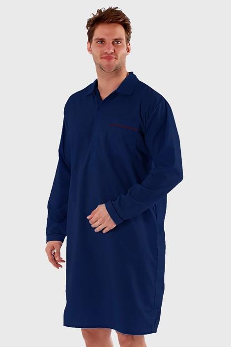 Harvey James Pánská noční košile HARVEY JAMES Classic tmavěmodrá XL