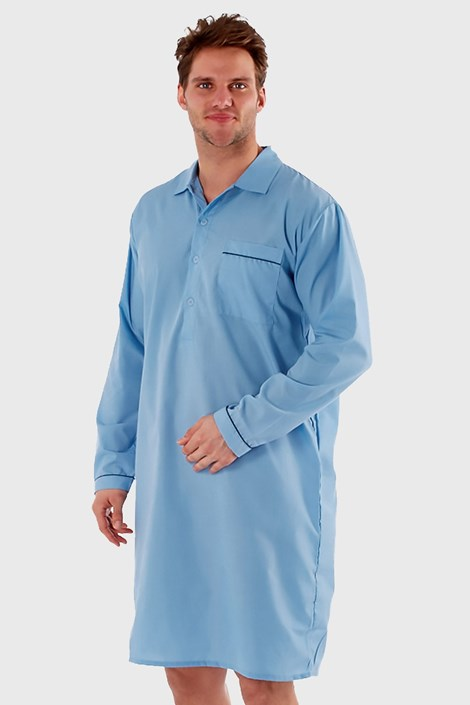Harvey James Pánská noční košile HARVEY JAMES Classic světlemodrá XL