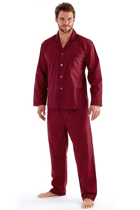 Fordville Pánské pyžamo HARVEY JAMES Classic vínová XXL