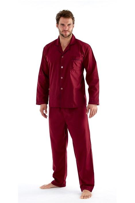Fordville Pánské pyžamo HARVEY JAMES Classic XL plus vínová 5XL