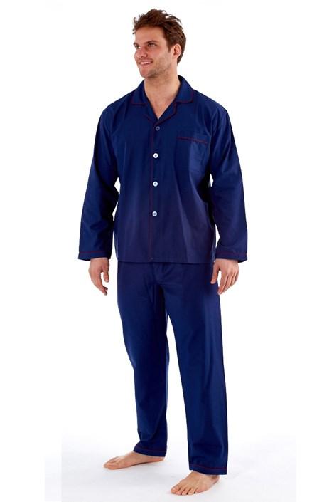 Fordville Pánské pyžamo HARVEY JAMES Classic XL plus tmavěmodrá 5XL