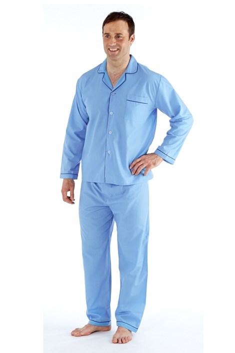 Fordville Pánské pyžamo HARVEY JAMES Classic XL plus světlemodrá 5XL