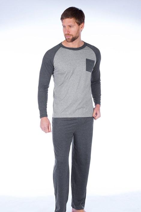Fordville Pánské pyžamo Richard šedé vícebarevná XXL