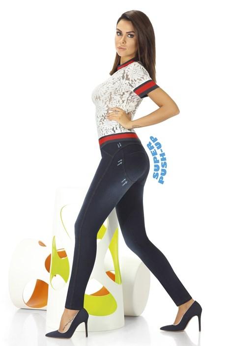 Basbleu Dámské legíny v džínovém designu Maddie modrá XL