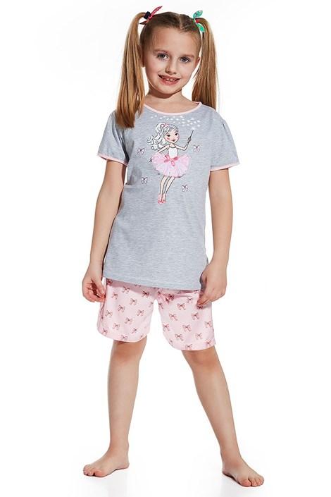 Cornette Dívčí pyžamko Magic šedorůžová 98/104