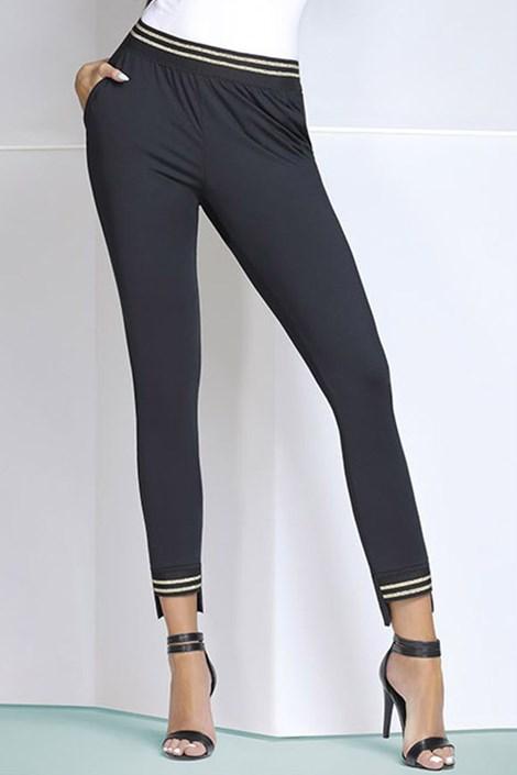 Basbleu Dámské módní legíny Marisa černozlatá M