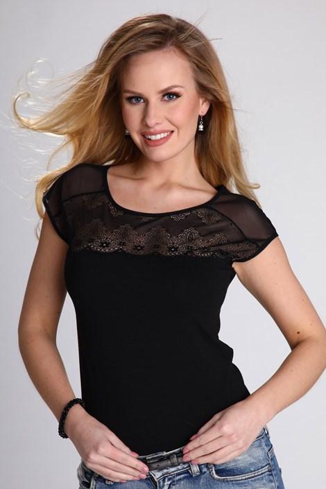 Eldar Dámské módní tričko Marita černá XL