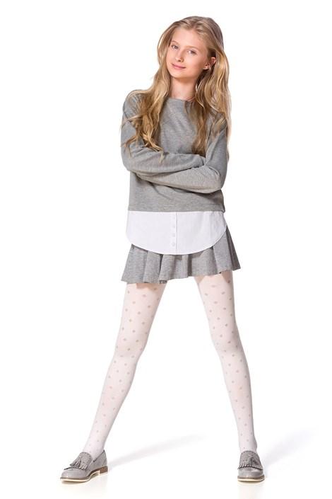 MONA Dívčí punčochové kalhoty Maya bílá 152/158