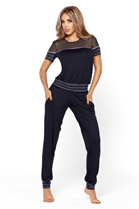 Hamana Dámské elegantní pyžamo Medea černá M