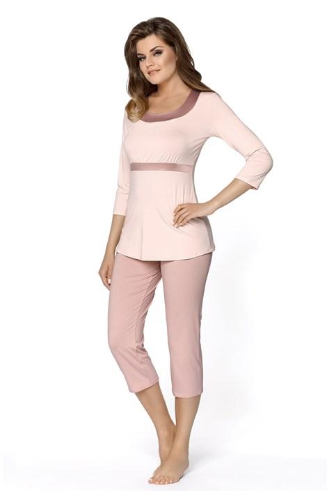 Babella Dámské pyžamo Megan krémové pudrová XXL