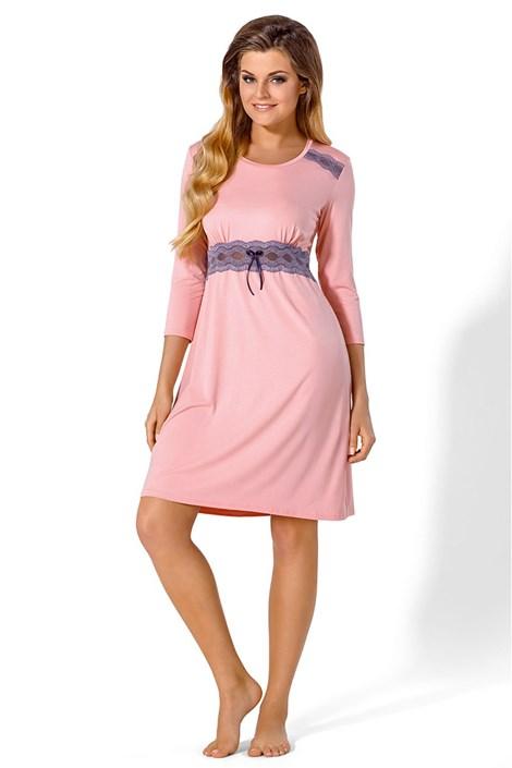 Babella Elegantní košilka Mella růžová XXL