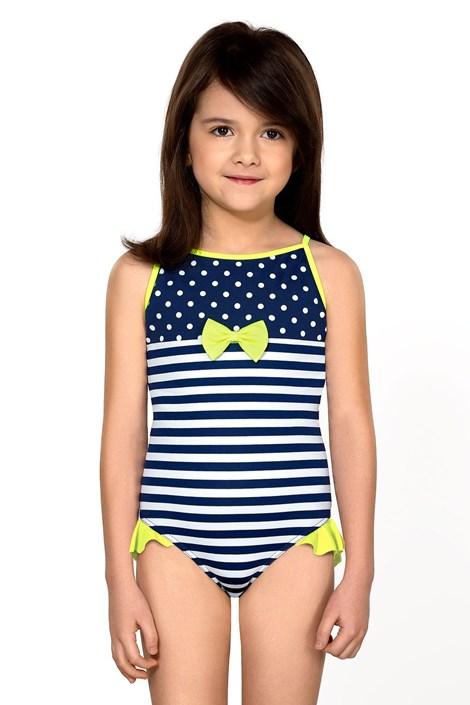 LORIN Dívčí plavky Aletta modrobílá 140