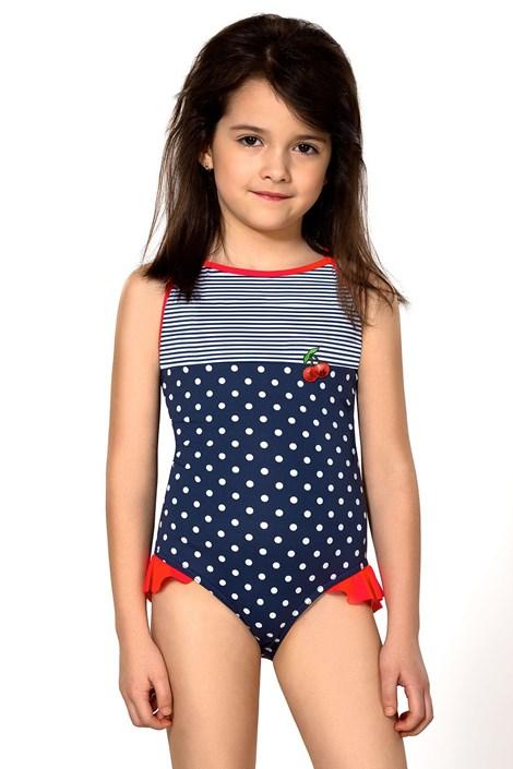 LORIN Dívčí plavky Lanza modrobílá 140