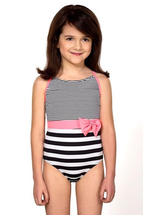 LORIN Dívčí plavky Delanna černobílá 134