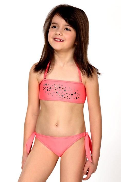LORIN Dívčí plavky Greta růžová 140