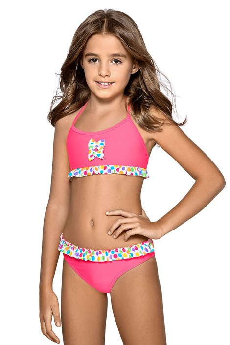 LORIN Dívčí plavky Esta růžová 152