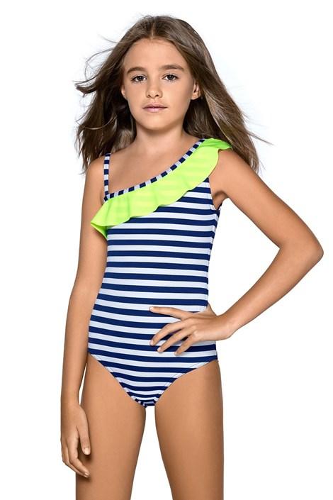 LORIN Dívčí plavky Aldene modrobílá 146