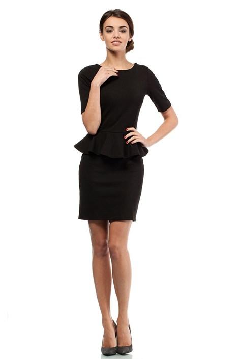 Moe Dámské šaty s volánem Moe014 černá M