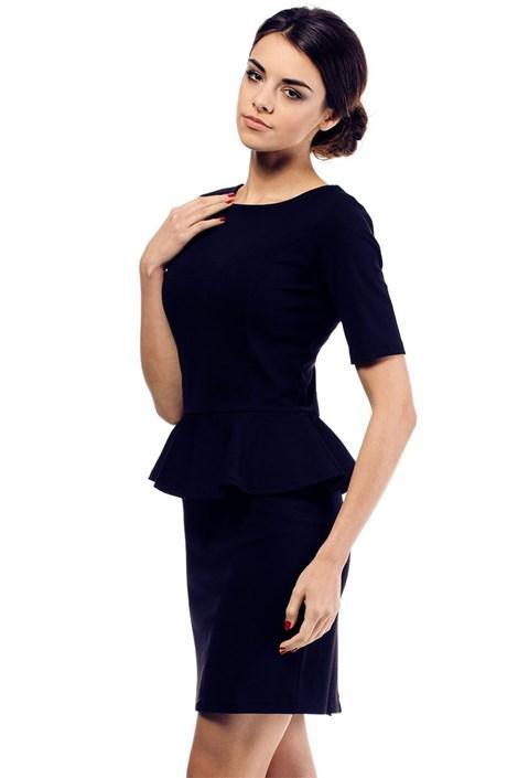 Moe Dámské šaty s volánem Moe014 tmavěmodrá L