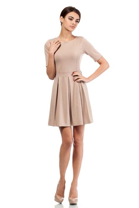 Moe Dámské elegantní šaty Moe018 capuccino XL