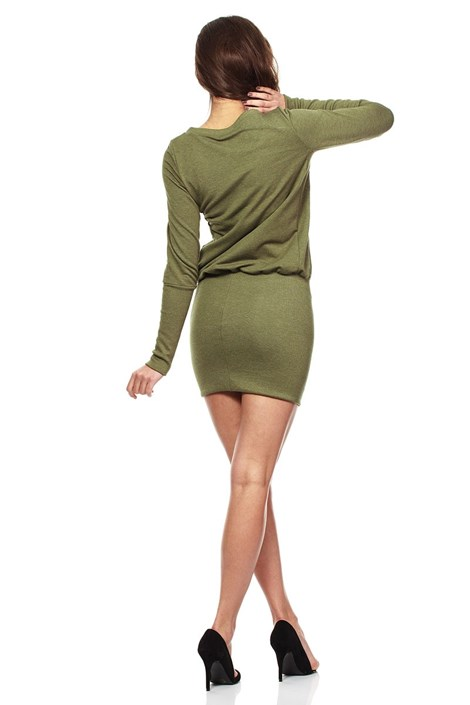 Moe Dámské šaty Moe143 khaki M