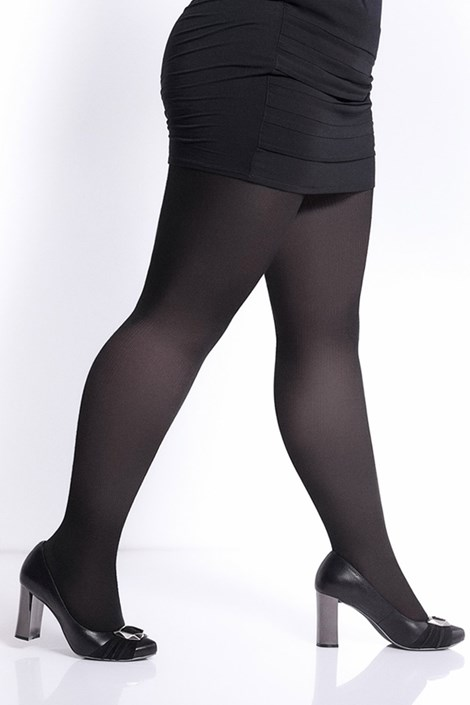 Giulia Bavlněné punčochové kalhoty Molly 200 DEN nero XXXL