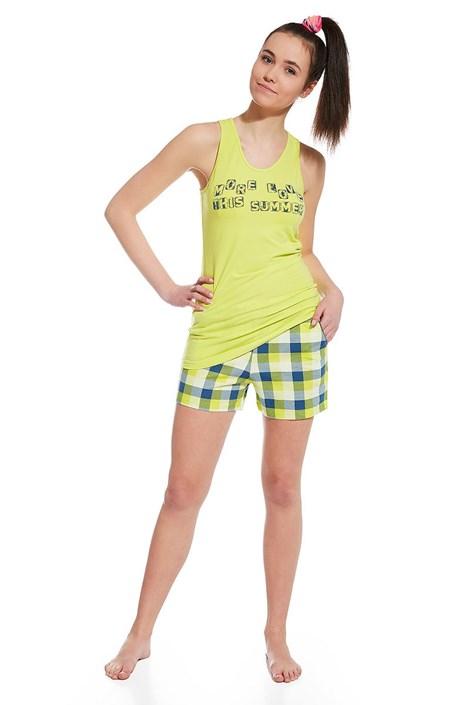 Cornette Dívčí pyžamo More Love zelená XS