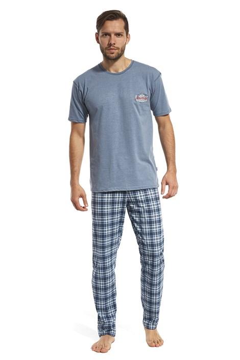 Cornette Pánské pyžamo Mountain modré šedomodrá XL