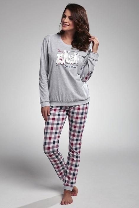 Cornette Dámské pyžamo My Family šedá XL