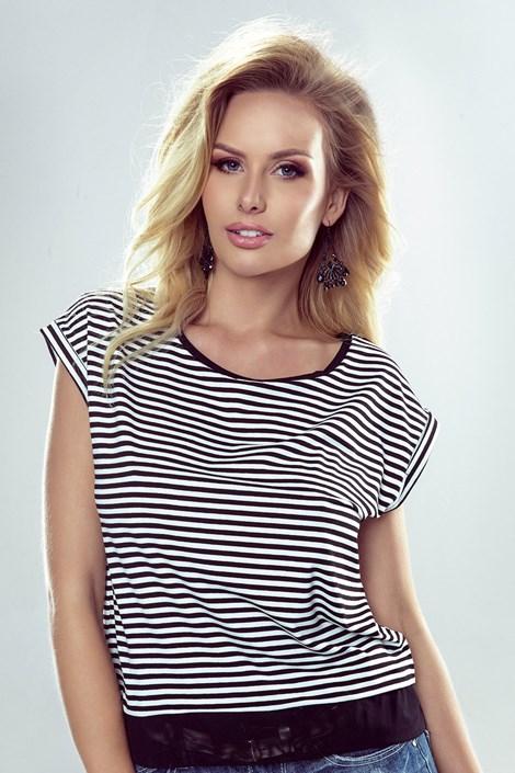 Eldar Dámské tričko Natalia pruhy černobílá L
