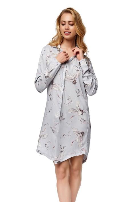 Esotiq Luxusní noční košilka Nature šedá XL