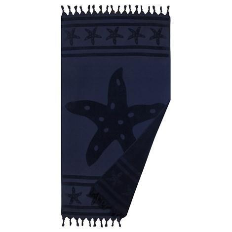Le Comptoir De La Plage Plážová osuška Navy Star modra 90x160