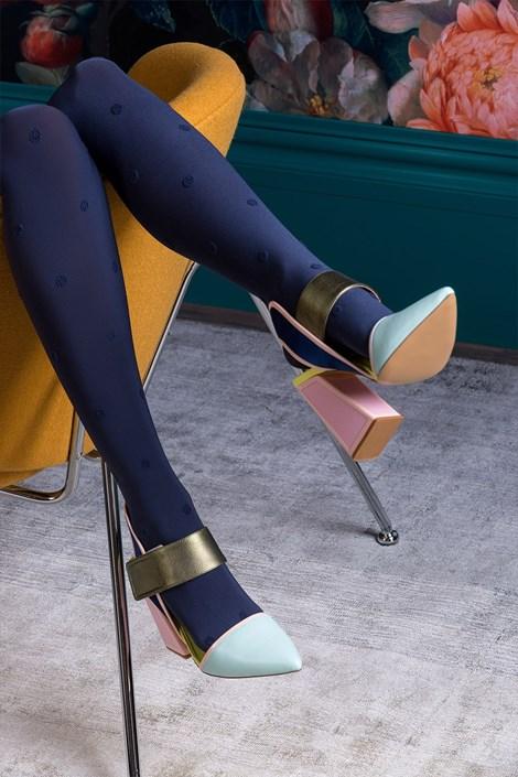Gabriella Vzorované punčochové kalhoty Nelly navy 5