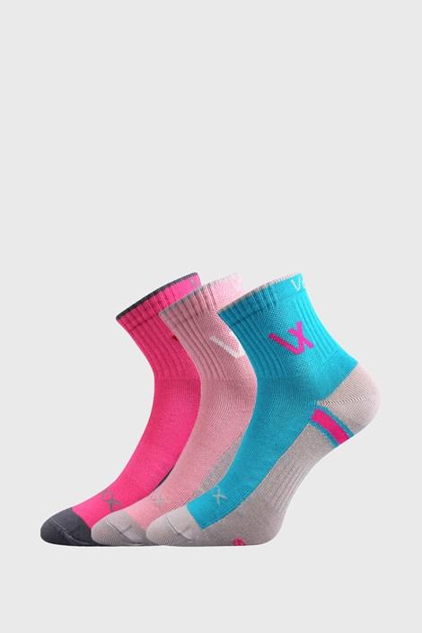3 PACK dívčích sportovních ponožek VOXX Neonik