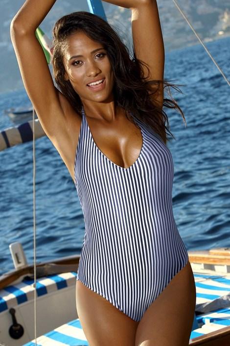 Bora Bora Dámské jednodílné plavky Niria modrobílá 42